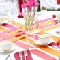 Kolorowe wstążki na stole