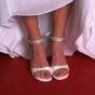 Atłasowe buty ślubne z cyrkoniami