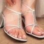 Sandałki ślubne na niewysokim obcasie
