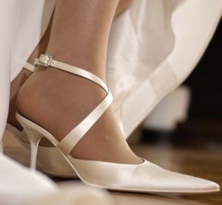 Buty satynowe zapinane na kostce