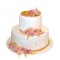 Tort weselny oprószony złotem