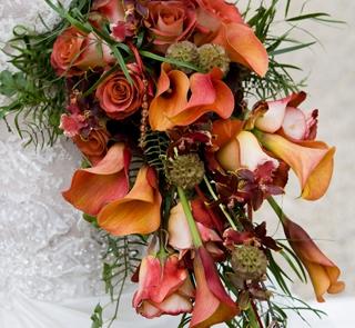 Bukiet z róż i kantadesek