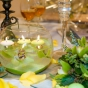 Pływające świeczki i niezwykłe orchidee