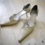 Buty dla Panny Młodej z paseczkami na gumce