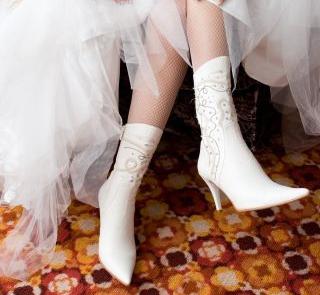 Haftowane kozaczki do ślubu