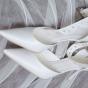 Buty ślubne z grubym paskiem na kostce