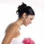 Kok ślubny - włosy natapirowane i wysoko upięte