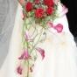 Bukiet dla Panny Młodej z róż i kantadesek