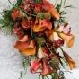Wiązanka ślubna - kantadeski i orchidea