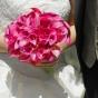 Kantadeski z kryształkami w bukiecie ślubnym
