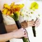 Herbaciane cantadeski w bukiecie ślubnym