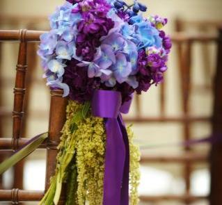 Stroiki z hortensji z fioletowym akcentem