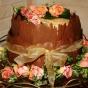Tort weselny niby krater wulkanu