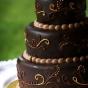 Tort weselny z gorzkiej czekoladowy