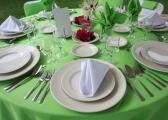 Stoły weselne - piękno zieleni
