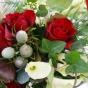 Bukiet do ślubu - róże z bluszczem