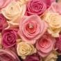 Bukiet ślubny - róże z kryształkami