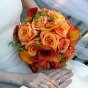 Bukiet ślubny - herbaciane róże i kantadeski