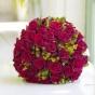 Wiązanka ślubna z róż i owoców dziurawca