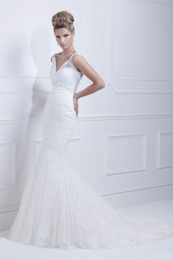 Biała suknia ślubna rybka