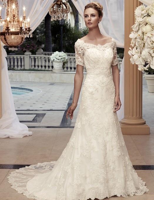 Elegancka suknia ślubna w stylu empire