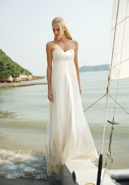 Romantyczna suknia ślubna w stylu empire